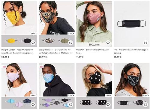 asos masken männer frauen