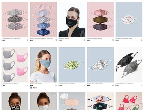 günstige fashion masken shein